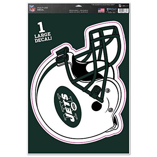 Juniors New York Jets Pro Line Green Helmet Stripe Boatneck Fleece Sweatshirt
