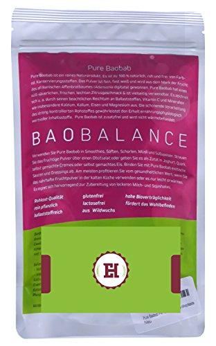 Pure Baobab Premium Fruchtpulver für Smoothies & Shakes - 500 g Zip Bag Vitamin C Kalzium Magnesium Energy Booster - ballaststoffreich - für den perfekten Fitness Power Drink geeignet - sehr sättigend - hohe Wirkstoffdichte