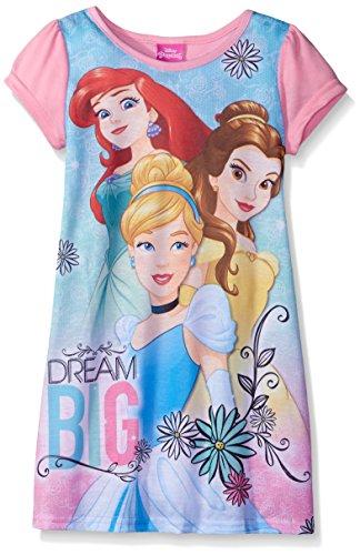 Disney Big Girls Princesses Always Dream Big! Nightgown Pink 10