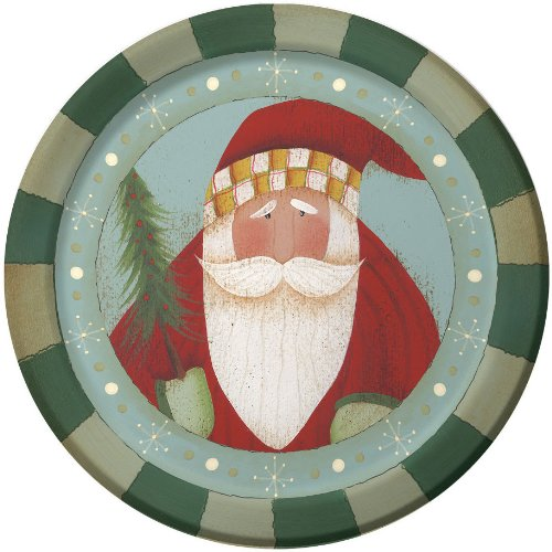 """St. Nick Tidings 9"""" Lunch Plates 8 Pack"""