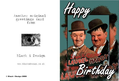 6 x 4 Birthday Greeting Card Featuring Movie PosterLaurel and – Laurel and Hardy Birthday Cards
