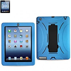 Apple iPad 2 Hybrid Case with KickStand Blue & Black