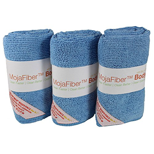 """Plush Extra Thick Microfiber Body Cloth: 3 Pk - 12""""X12""""- Exfoliate, Wash & Cleanse Pores - Remove Dirt, Oil & Dead Skin Cells With Just Water front-27660"""