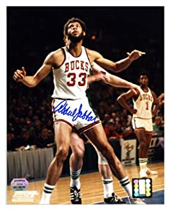 Milwaukee Bucks Kareem Abdul-Jabbar Autographed 8 x 10 Photo - Memories - Mounted... by Sports Memorabilia