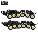 HOT SYSTEM™ 12pcs High Power 9w LED Eagle Eye Bumper DRL Fog Light Motorcycle Light Daytime Running DRL Tail Backup Light Car Motor