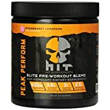 HIT Supplements Peak Perform Pre Workout Supplement With Peak ATP, Stimulant Free, Strawberry Lemonade, 45 Servings
