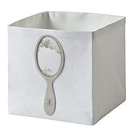 Daycollection Leurres Du Bain LEBABOCU1 - Contenitore porta oggetti, cotone, 15 x 15 x 15 cm, colore: bianco
