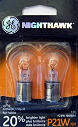 GE P21WNH/BP2 Nighthawk Automotive Replacement Bulbs, Pack of 2