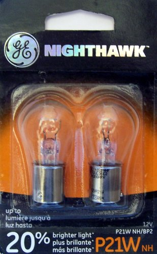 GE P21WNH/BP2 Nighthawk Automotive Replacement Bulbs, Pack of 2 (1999 E320 Mercedes Bulb compare prices)