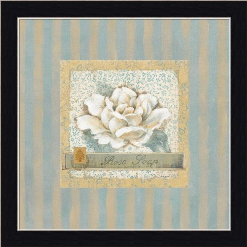Rose Soap By Carol Robinson Cottage Chic Bathroom Decor Art Print Framed Picture front-570404