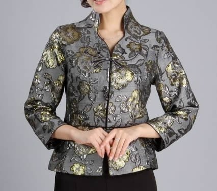 Striking Jaquard Floral Jacket, size 12