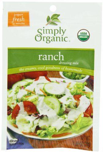 Simply Organic Salad Dressing Mix, Ranch, 12 Count (Pack of 12)