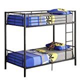 Walker Edison Twin Over Twin Bunk Bed Black
