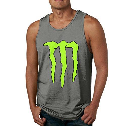 Nubia Men's Monster Scratch Originals Tank DeepHeather L