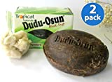 DUDU OSUN African Black Soap Natural Ingredients 5.3 Oz. (2 Pack) Jabon GL