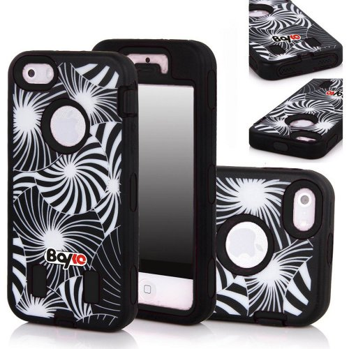 Bayke Brand Premium Armorbox Armor Defender Case for Apple Iphone 5 5S (5C Not Fit) Fashion Dream Catcher Design High Impact Dual Layer Hybrid Full-body Protective Case (Black / Screen Protector not Include) at Amazon.com