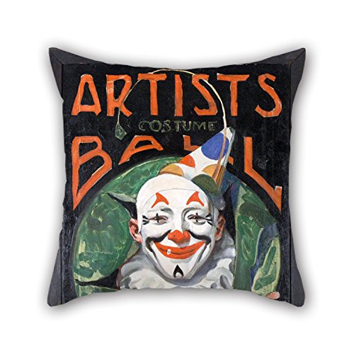 Cushion Cases Of Oil Painting Norman Rockwell - Artists Costume Ball,for Sofa,floor,saloon,monther,living Room,birthday 18 X 18 Inch / 45 By 45 Cm(double Sides)