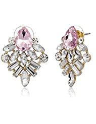 Pout Out Stud Earrings For Women (Golden) (EAR-STUD-316 GLD)