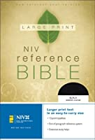 NIV Large Print Reference Bible, Personal Size, Thumb Indexed (Black Bonded Leather)