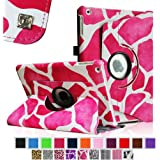 Fintie Apple iPad Air Case - 360 Degree Rotating Stand Case Cover with Auto Sleep / Wake Feature for iPad Air / iPad 5 (5th Generation) - Giraffe Pink