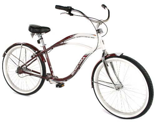 Sonoma Men's Chainless Drive Evolution Oasis Beach Cruiser Bike