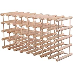 Giantex Wood Wine Rack Stackable Storage Storage Display Shelves (40-Bottle)