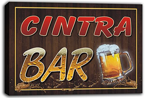 scw3-098366-cintra-name-home-bar-pub-beer-mugs-cheers-stretched-canvas-print-sign