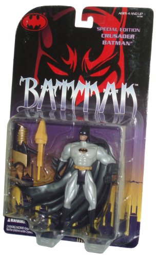 Batman Year 1995 Special Edition 5-1/2 Inch Tall Action Figure - CRUSADER BATMAN with Rocket Launcher and 1 Rocket Missile