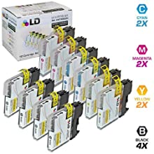 LD Brother Compatible LC61 Bulk Set Of 10 Ink Cartridges: 4 Black & 2 Each Of- Cyan / Magenta / Yellow