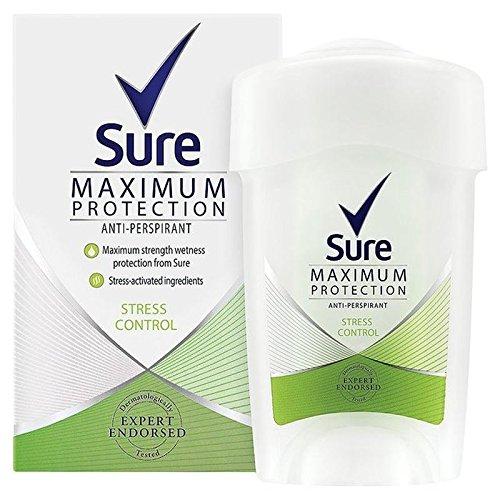 Sicuro Che Le Donne Massima Stresscontrol Protezione Anti-Traspirante Crema Deodorante 45Ml (Confezione da 4)