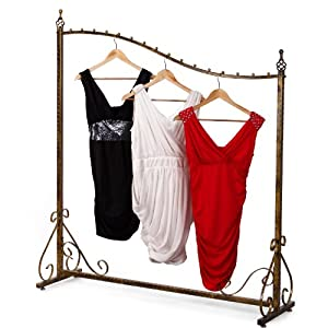 znl new garment rack clothing rail clothes hanging rail. Black Bedroom Furniture Sets. Home Design Ideas