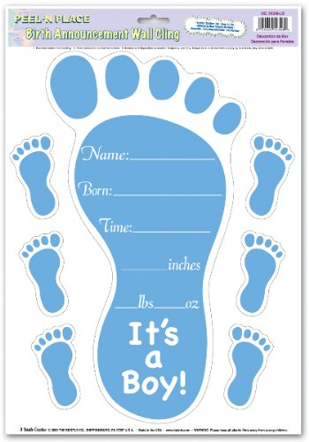Ddi Birth Announcement Peel 'N Place (Pack Of 96) front-23156