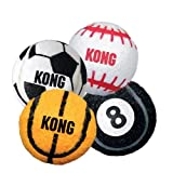 Kong Air Dog SPORT BALLS Thick Rubber Tennis Material Dog Fetch Toy Large (ABS1)
