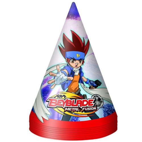 Beyblade Cone Hats Party Accessory by Unique (Beyblade Birthday Supplies compare prices)