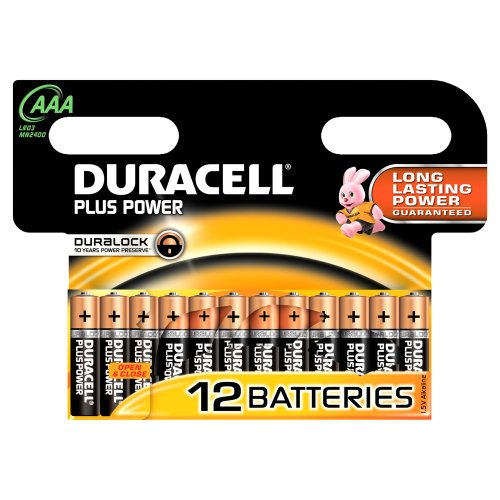 Duracell - Pile Alcaline - Duralock AAA x 12 Plus Power (LR03)