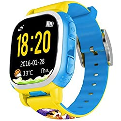 QQ Watch Kids Smart Watch phone GPS Tracker Wifi Locating GSM Camera Remote Locating Security SOS Alarm Antilost For Children(Yellow) by Tencent