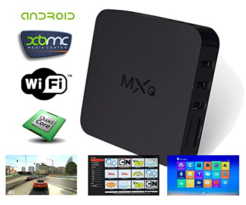 G-Streamer MXQ QUAD Core XBMC Android 4.2 TV Box + Special Edition XBMC + FREE 6′ Aurum HDMI Cable [Preinstalled Software Streams Live Television & The Latest Movies Out Of The Box!]