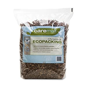 Caremail EcoPacking 3-Ply Cushion Fill Protective Packaging Filler, 0.31 Cubic Feet (1092723)