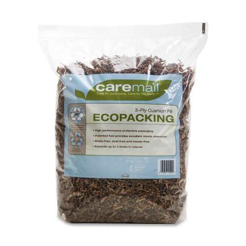 Caremail EcoPacking Recycled 3-Ply Cushion Fill Protective Packaging Filler, 0.31 Cubic Feet (1092723)
