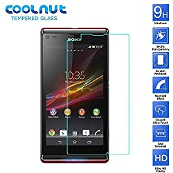 COOLNUT® Premium Tempered Glass Screen Protector Guard for Sony Xperia L S36h