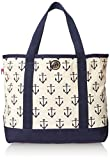 Tommy Hilfiger Canvas Anchor Print Large Shoulder Bag, Navy/Natural, One Size