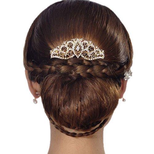 ever faith plaqu or cristal autrichien mariage floral vigne peigne cheveux clair n05404 2. Black Bedroom Furniture Sets. Home Design Ideas