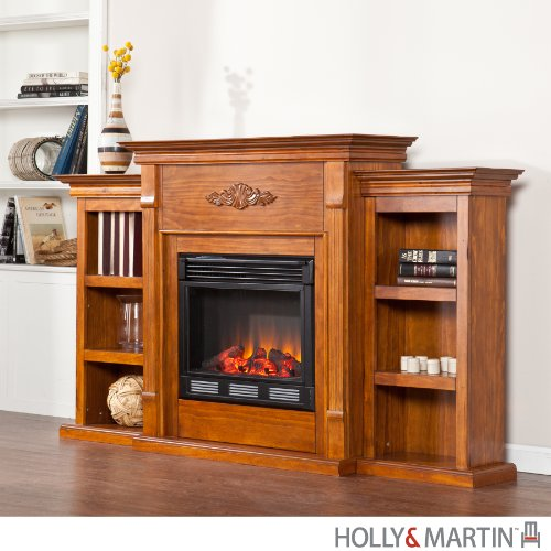 Holly & Martin Electric Fireplace with Bookcases picture B009PRY730.jpg