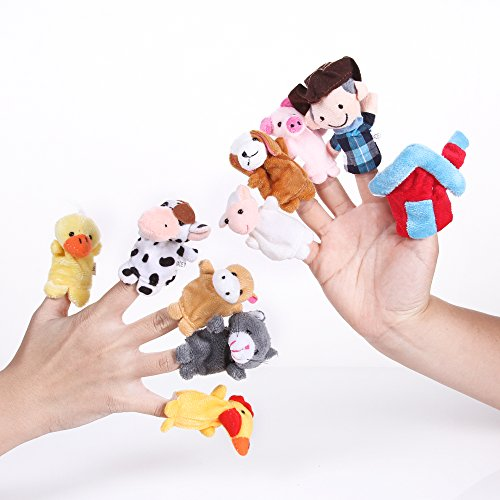 Foto4easy-Story-Telling-Old-Macdonald-Had-a-Farm-Finger-Puppets-Nursery-Rhyme-Toys-10-pcs