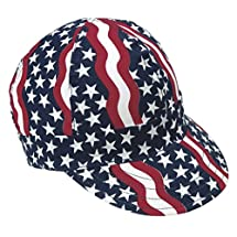 "Mutual Industries 00350-00000-6875 Kromer Americana Style Welder Cap 6 7/ 8, Cotton, Length 5"", Width 6"""