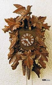 Alemán Reloj cucú 8 días de movimiento 43 cm - Auténtico reloj de cuco del bosque negro tallada de estilo de Hekas de Hekas