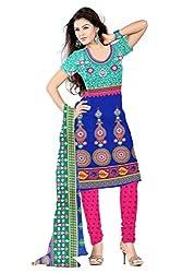 Ethnic Fashion Printed Cotton Dress Material