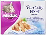 Whiskas Purrfectly Fish Variety Pack (4-Tuna & Whitefish Entree, 3-Tuna Entree, 3-Sardine & Mackerel Entree) Food for Cats, 10-Count Packages (Pack of 4)