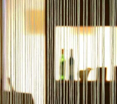 コードスクリーン ストリングスカーテン ひものれん 白色 サイズ 幅100cm 丈200cm