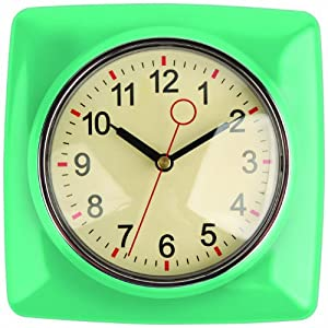 Kikkerland Retro Kitchen Wall Clock Mint